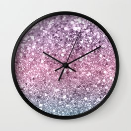 Unicorn Girls Glitter #5 #shiny #pastel #decor #art #society6 Wall Clock