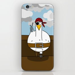 Eglantine la poule (the hen) disguised as a pirate. iPhone Skin