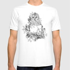 Night Frost White MEDIUM Mens Fitted Tee