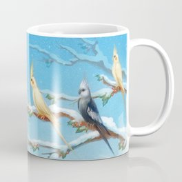 Sun Conure and Cockatiel Family Coffee Mug