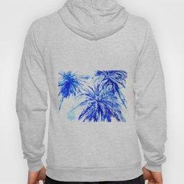 Blue Palm Trees beach california beach design aquatic beach blue design beach house Hoody