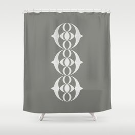 Alien crop circle, Sacred geometry Shower Curtain