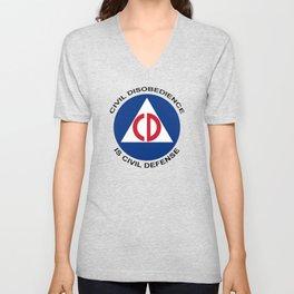 Civil Defence Unisex V-Neck