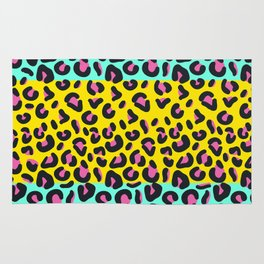 Abstract Leopard Pattern Rug