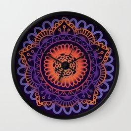 Colourful Mandala of Life Wall Clock