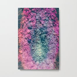 Colorful Geode Macro Photography Rock Print Metal Print