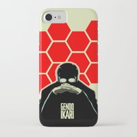 evangelion iPhone & iPod Cases featuring Gendo Ikari from Evangelion. Super Dad. by Barrett Biggers