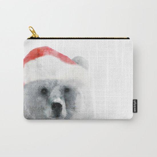 Christmas Teddy Bear Carry-All Pouch