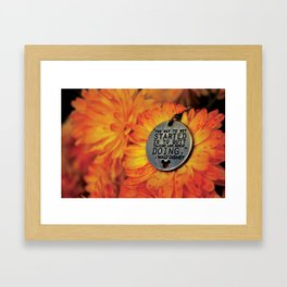 The Way To Get Started Framed Art Print