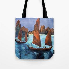 Junks In the Descending Dragon Bay Tote Bag