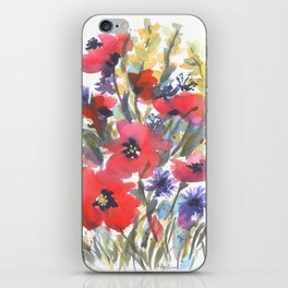 Big Poppy Field iPhone Skin