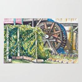 Wind Rose Mill Water Wheel Rug