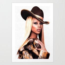 Cowboy Rupaul Art Print