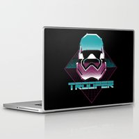 trooper Laptop & iPad Skins featuring TROOPER by MEKAZOO