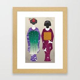 Geisha Maiko Winter Framed Art Print