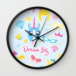 Fancy sticker design Wall Clock