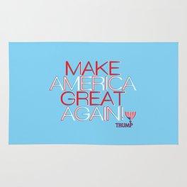 Make America Great Again w/ Trump Trumpet & Flag logo. Rug