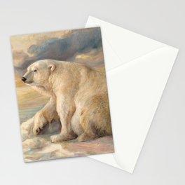 Polar Bear Rests On The Ice - Arctic Alaska Stationery Cards