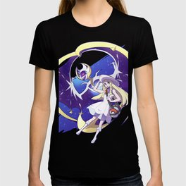 Sun and Moon Lunala and Lille Nebby T-shirt