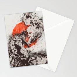 monster war Stationery Cards