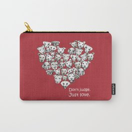 Just Love. (white text) Carry-All Pouch