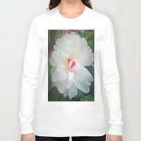 peonies Long Sleeve T-shirts featuring Peonies by GT6673