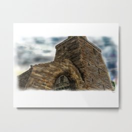 St Serf's Tower: Dysart in Scotland [Painted Colour version 2] Metal Print