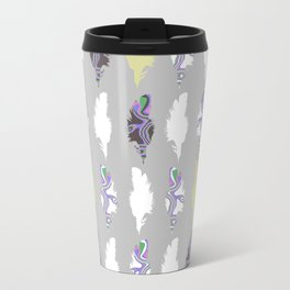 Inky Feathers Travel Mug