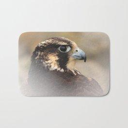 Vignetted Profile of a Peregrine Falcon Bath Mat
