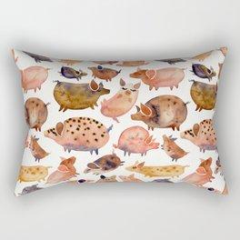 Pig Collection Rectangular Pillow
