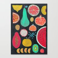 fruit Canvas Prints featuring Fruit by Mouni Feddag