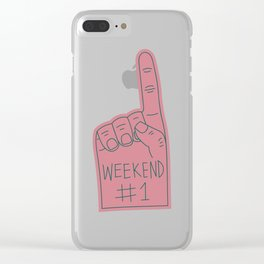 #1 Fan Clear iPhone Case