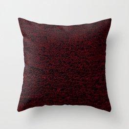 fun, red on black Throw Pillow