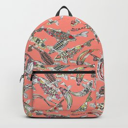 lucky koi coral Backpack