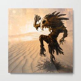 Macabre Birdman Metal Print
