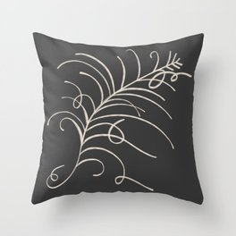 loopy feather Throw Pillow