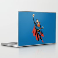 dc Laptop & iPad Skins featuring DC - Superman by TracingHorses