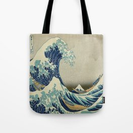 Vintage poster - The Great Wave Off Kanagawa Tote Bag