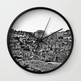 Sassi di Matera: view Wall Clock