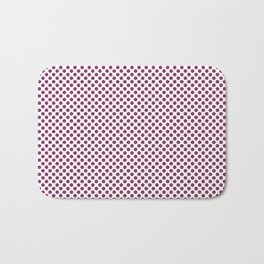 Boysenberry Polka Dots Bath Mat