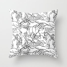Givers and beggars Throw Pillow
