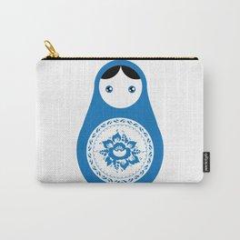 matrioshka doll - blue parttern Carry-All Pouch