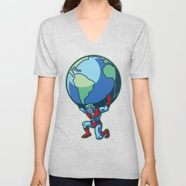 The Weight of the World Unisex V-Neck
