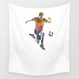 man soccer football player 09 Wall Tapestry