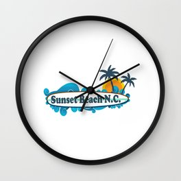 Sunset Beach - North Carolina. Wall Clock