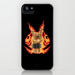 Devil Horns Sign - Heavy Metal Festival Gesture iPhone Case