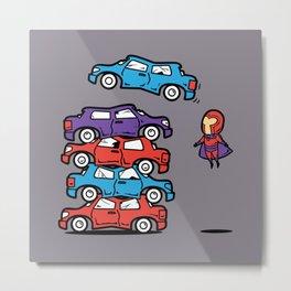 Part Time Job - Car Scrap Yard Metal Print