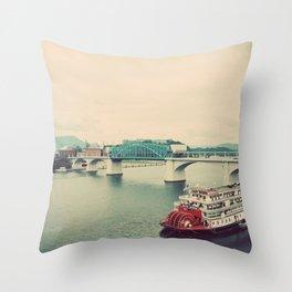 The Delta Queen Throw Pillow