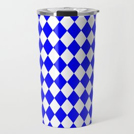 Diamonds (Blue/White) Travel Mug