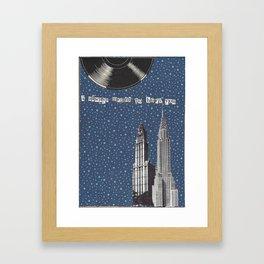 handmade collage, city Framed Art Print
